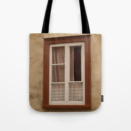 Window in a brown wall Tote Bag
