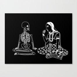 Graveyard Picnic Inverse Canvas Print