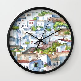 Panorama of Lindos Wall Clock