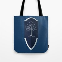 lotr Tote Bags featuring Shield of Gondor by DWatson
