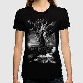 XVI. The Tower Tarot Illustration T-shirt