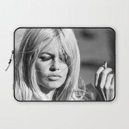Brigitte Bardot with Cigarette Retro Vintage Art Laptop Sleeve