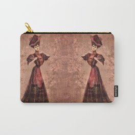 Woman in red Edwardian Era in Fashion Carry-All Pouch