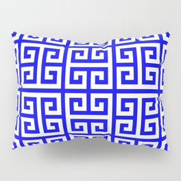 Greek Key (Blue & White Pattern) Pillow Sham