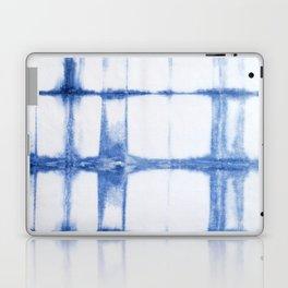 Shibori Blue - Rectangles Laptop & iPad Skin