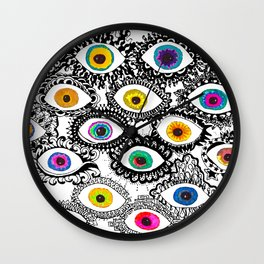 Through Eyes Wall Clock