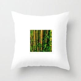 Bamboo Oasis Throw Pillow