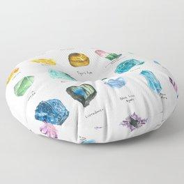 Rainbow Chart Floor Pillow