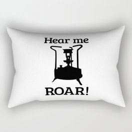 Brass Stove, HEAR ME ROAR Rectangular Pillow