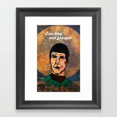 Live Long... Framed Art Print