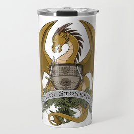 Clan Stonefire Crest - Gold Dragon Travel Mug