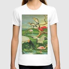 Amazonian birds by Göldi & Emil August Brazil Colorful Tropical Birds Illustration Flamingos T-shirt