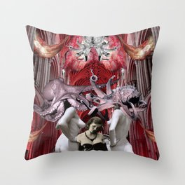 Gathering Of Witches Throw Pillow