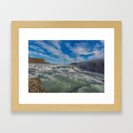 Gulfoss. Framed Art Print