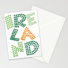 I love ireland (irish eyes are smiling they steal your heart) Stationery Cards