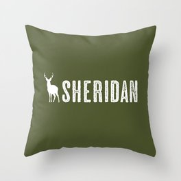 Deer: Sheridan, Wyoming Throw Pillow