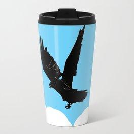 Crow Above the Clouds Travel Mug