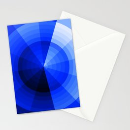 Monochromatic Blue Sphere Stationery Cards