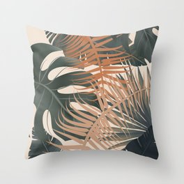 Abstract Tropical Art V Throw Pillow