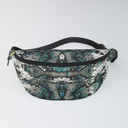 Teal Animal Print Pattern Fanny Pack