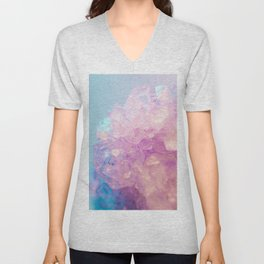 Crystallized Light Colors Unisex V-Neck