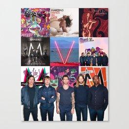 Maroon Collage Canvas Print