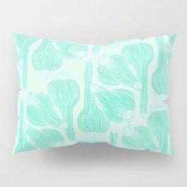 Garlics Pattern in Pastel Green Pillow Sham