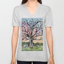 Spring Tree Unisex V-Neck
