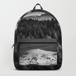 Mt Hood Black and White Mountain Backpack