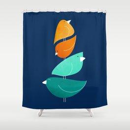 Bird Stack III Shower Curtain