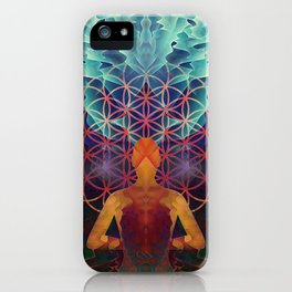 Flower Of Life (The Journey) iPhone Case