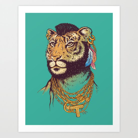 Mr. T(iger) Art Print