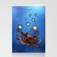 octopus Stationery Cards featuring Octopus by Anna Shell