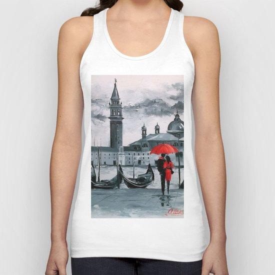 Romantic Venice Unisex Tank Top