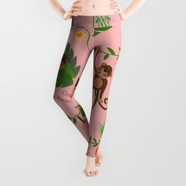 jumping cheeky monkeys 02 Leggings