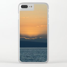 Haitian Sunset Clear iPhone Case