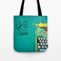 the perks of being a wallflower Tote Bags featuring the love you deserve - perks of being a wallflower by Lovemaltine