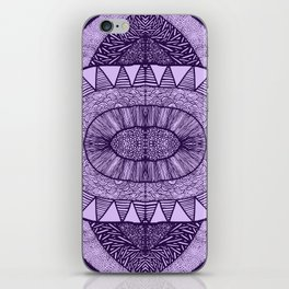 Grape Tangled Mania Pattern Doodle Design iPhone Skin