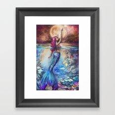 Moonlit Siren Framed Art Print