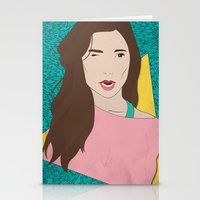 80s Stationery Cards featuring 80s Gal by Levi Allred