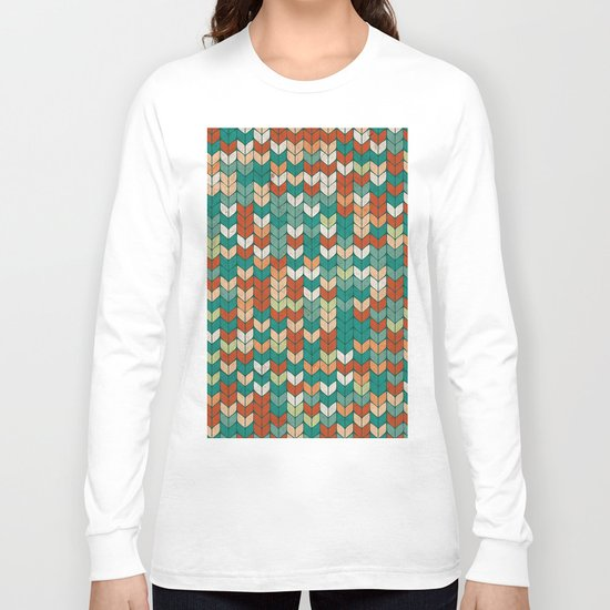 Knitted colors Long Sleeve T-shirt