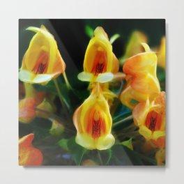 Yellow Flowers Scoop Petals Metal Print