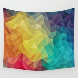 Abstract Color Wave Flash Wall Tapestry