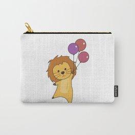 Lion Balloons Flies Upward Cute Animals For Babies Carry-All Pouch