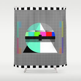 Waiting for the Show to Begin (Test Pattern 1) Shower Curtain