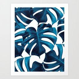 Tropical Monstera Leaves Dream #8 #tropical #decor #art #society6 Art Print