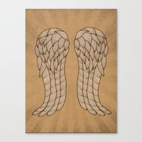 daryl Canvas Prints featuring Daryl Wings by Michelle Bowden Art