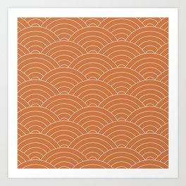 Waves (Terracotta) Art Print