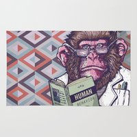 ape Area & Throw Rugs featuring Ape Analyst by PRIMATE