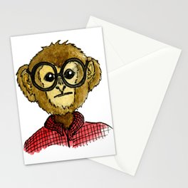 The Monkey with the Round Glasses Stationery Cards